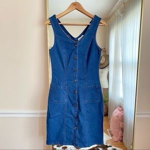 Roolee Button Down Jean Denim Dress S